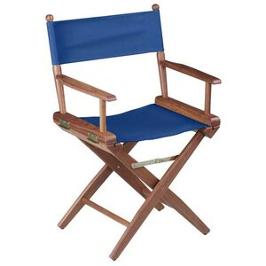 Folding Directors Chair with Cushion