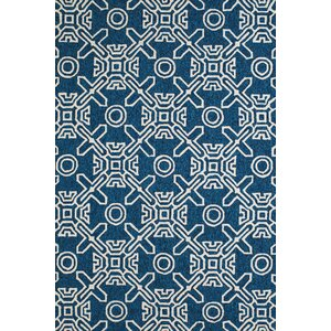 Maui Hand-Woven Cyan Indoor/Outdoor Area Rug