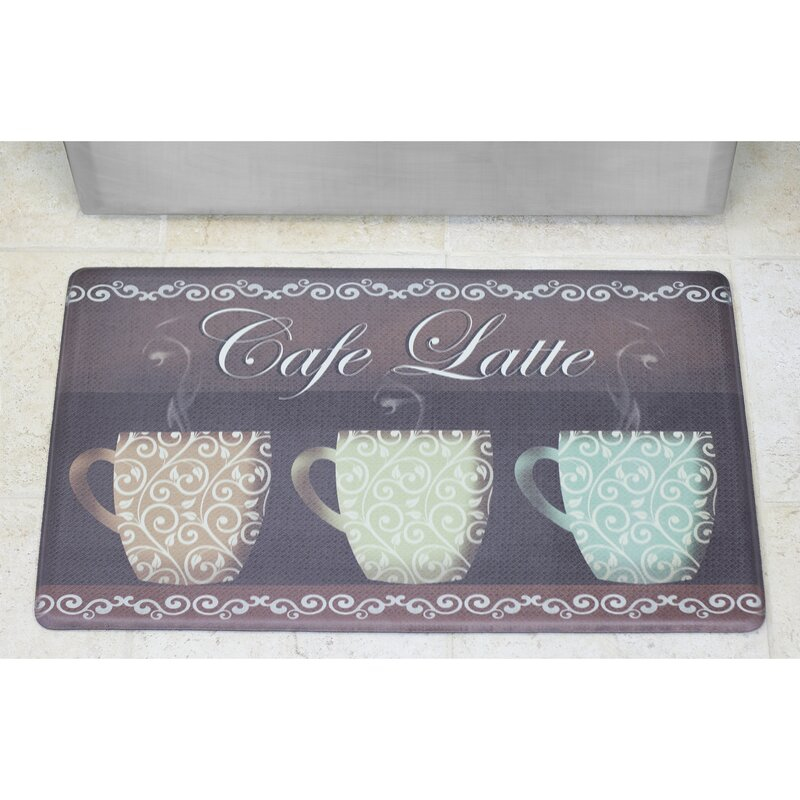 Café Latte Anti Fatigue Cushioned Chef Kitchen Mat