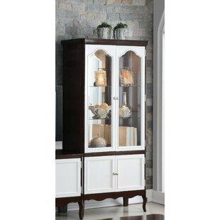 Conley Double Glass Door Wooden Curio Cabinet