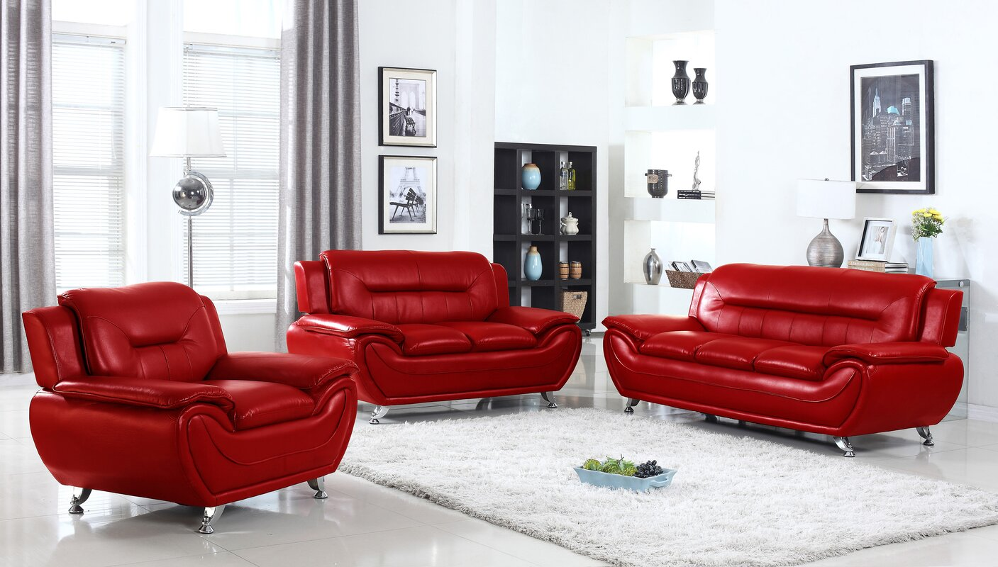 Awesome Sather 3 Piece Living Room Set