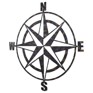 Elegant Metal Compass Wall Décor