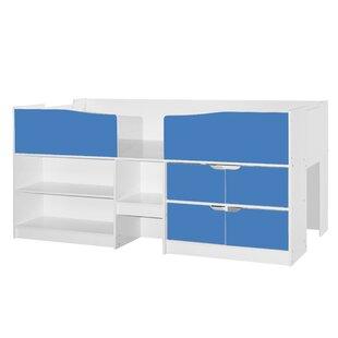 Wedgewood Single Mid Sleeper Bed with Shelves by Metro Lane