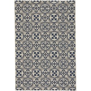 Bainsbury Tile Blue Indoor/Outdoor Area Rug