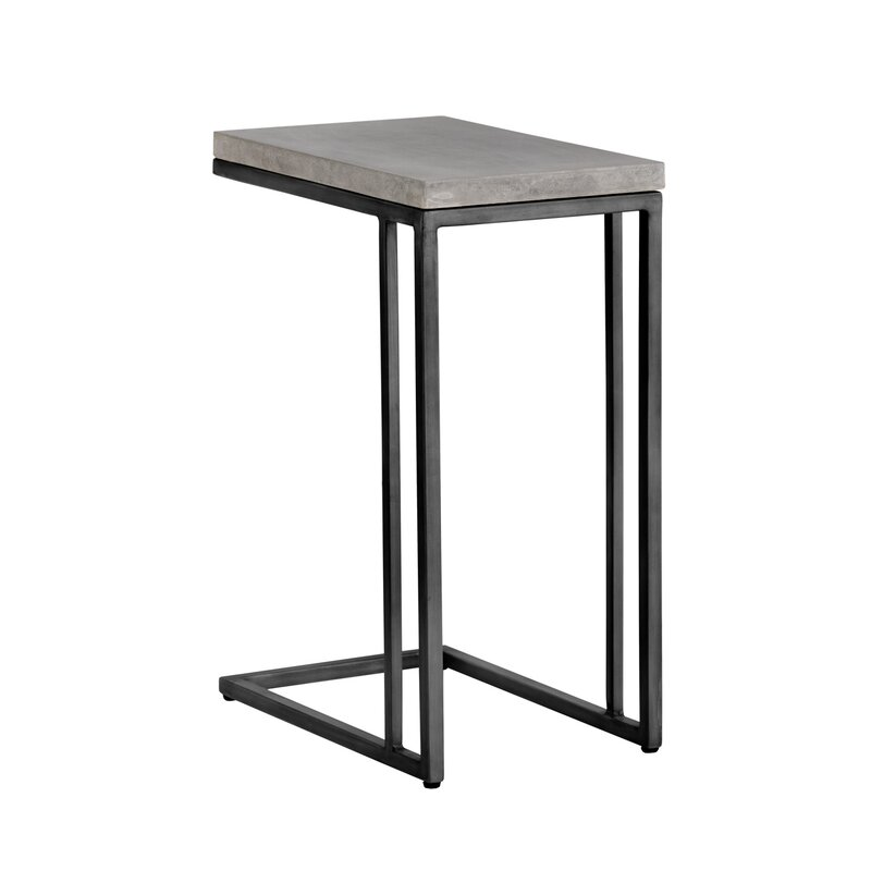 Merveilleux Solterra C Shaped End Table