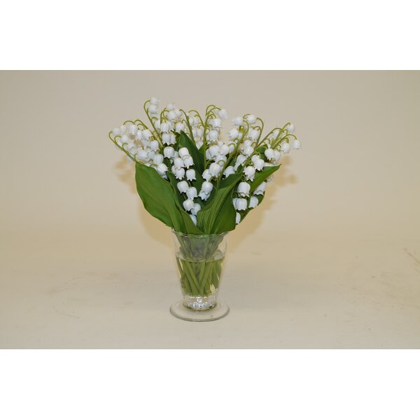 The French Bee White Lily Of The Valley In Parfait Vase
