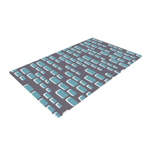 Michelle Drew Cubic Geek Chic Gray Area Rug