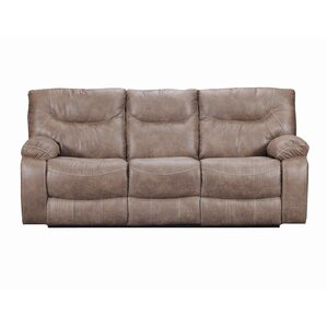 Simmons Upholstery El Capitan Double Motion Reclining Sofa by Loon Peak