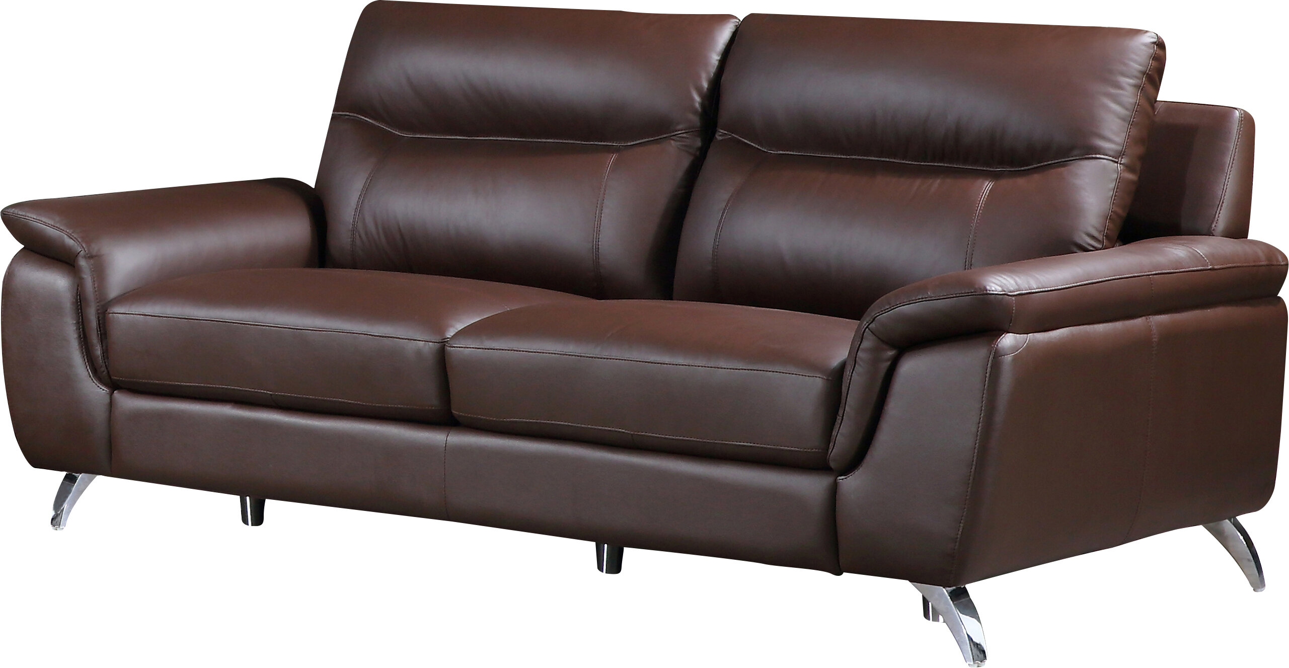 Superbe Cortesi Home Chicago Leather Sofa | Wayfair