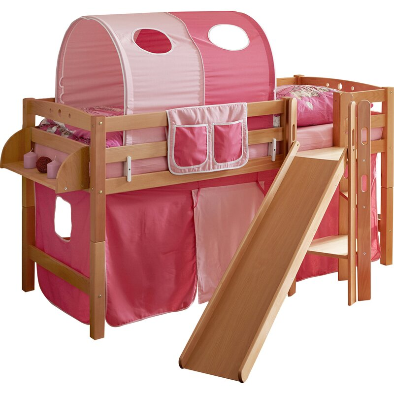 ticaa halbhochbett fino mit rutsche 90 x 200 cm. Black Bedroom Furniture Sets. Home Design Ideas