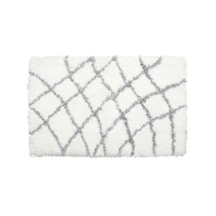 Great choice Diamond Chunky Shag Gray/White Area Rug By Vista Living