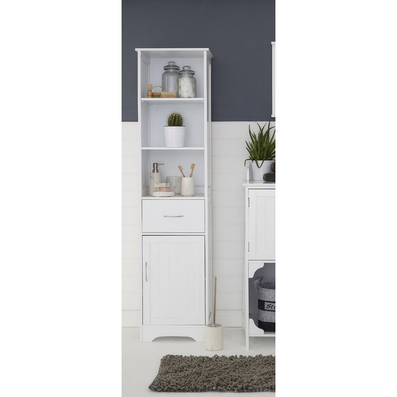 all home 40 x 160cm free standing tall bathroom cabinet. Black Bedroom Furniture Sets. Home Design Ideas
