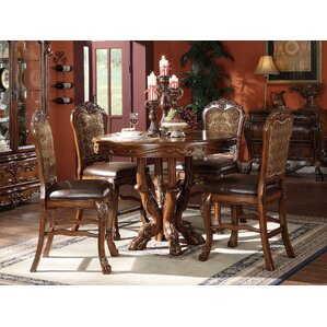 Welliver Traditional 5 Piece Counter Heig..