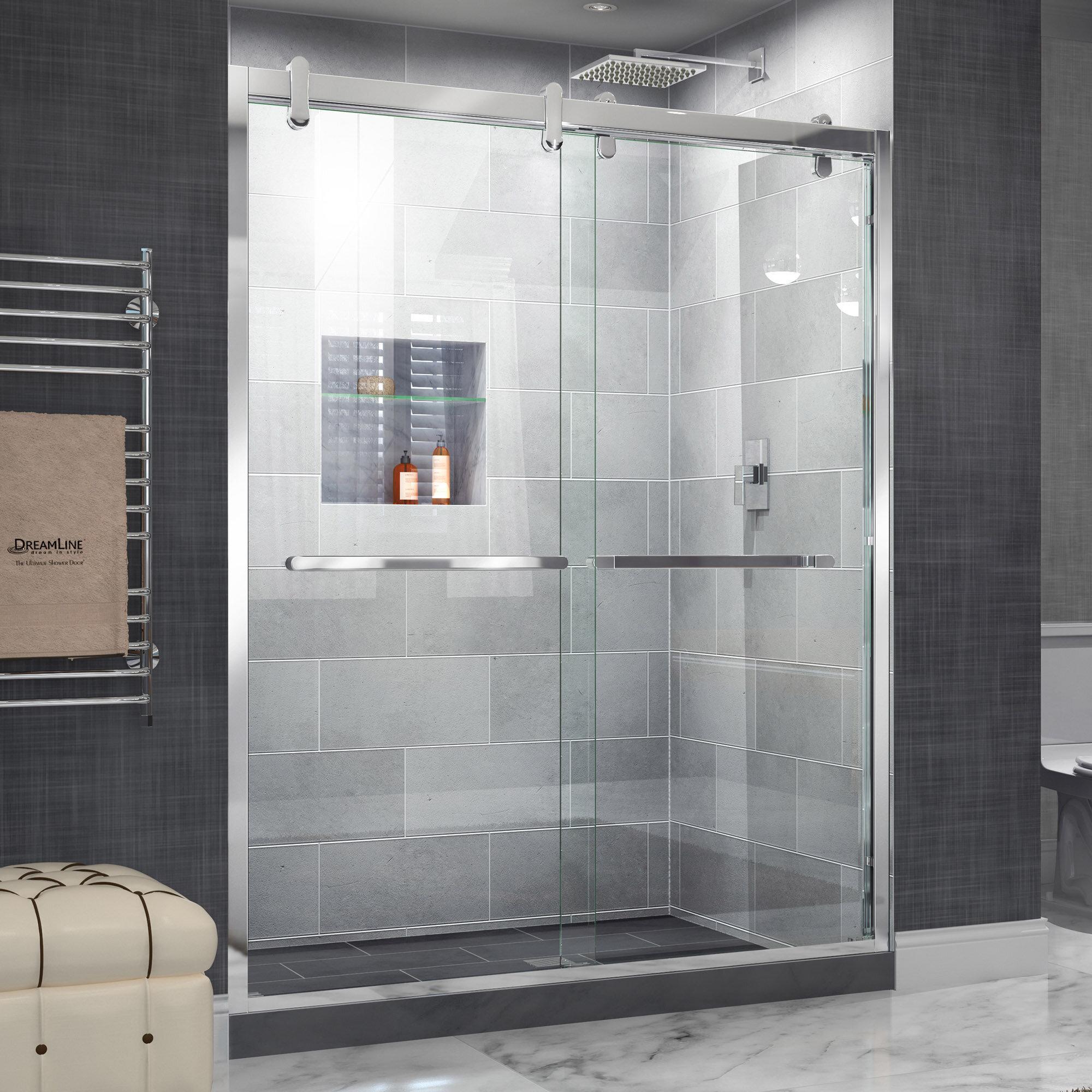 Dreamline Cavalier 60 X 7738 Bypass Semi Frameless Shower Door