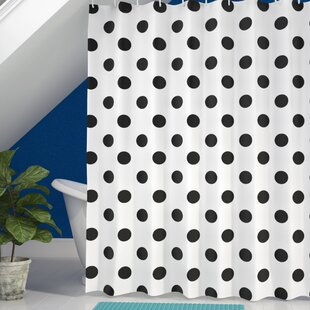 Baltzell Polka Dots Art Single Shower Curtain