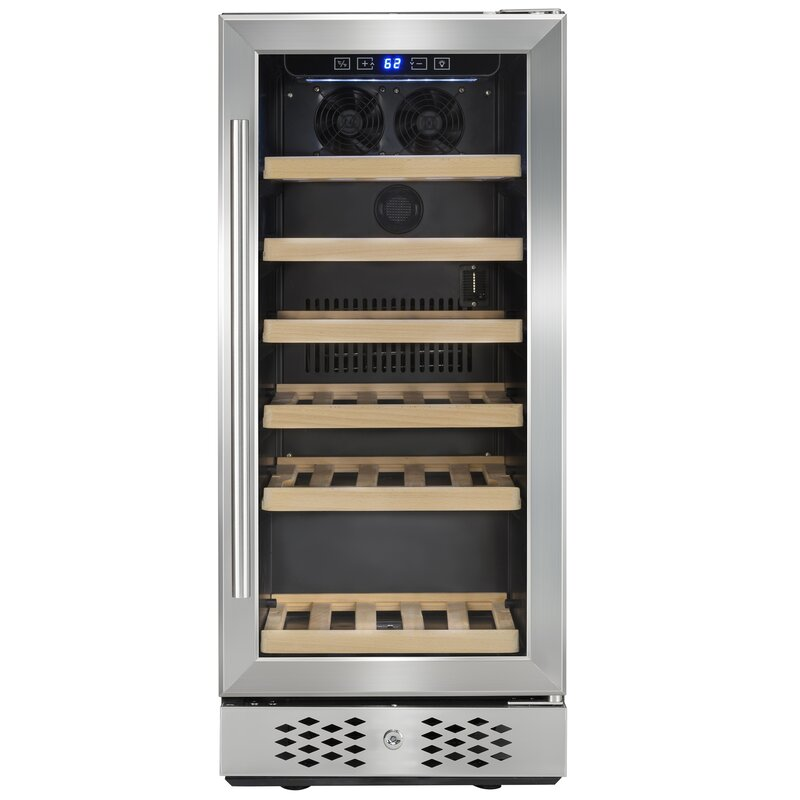 AKDY 30 Bottle Compressor Single Zone Built-In Wine Cooler