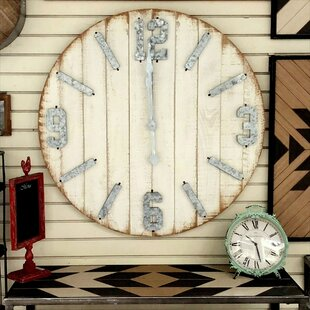 Oversized Crissyfield Wooden 36 5 Wall Clock
