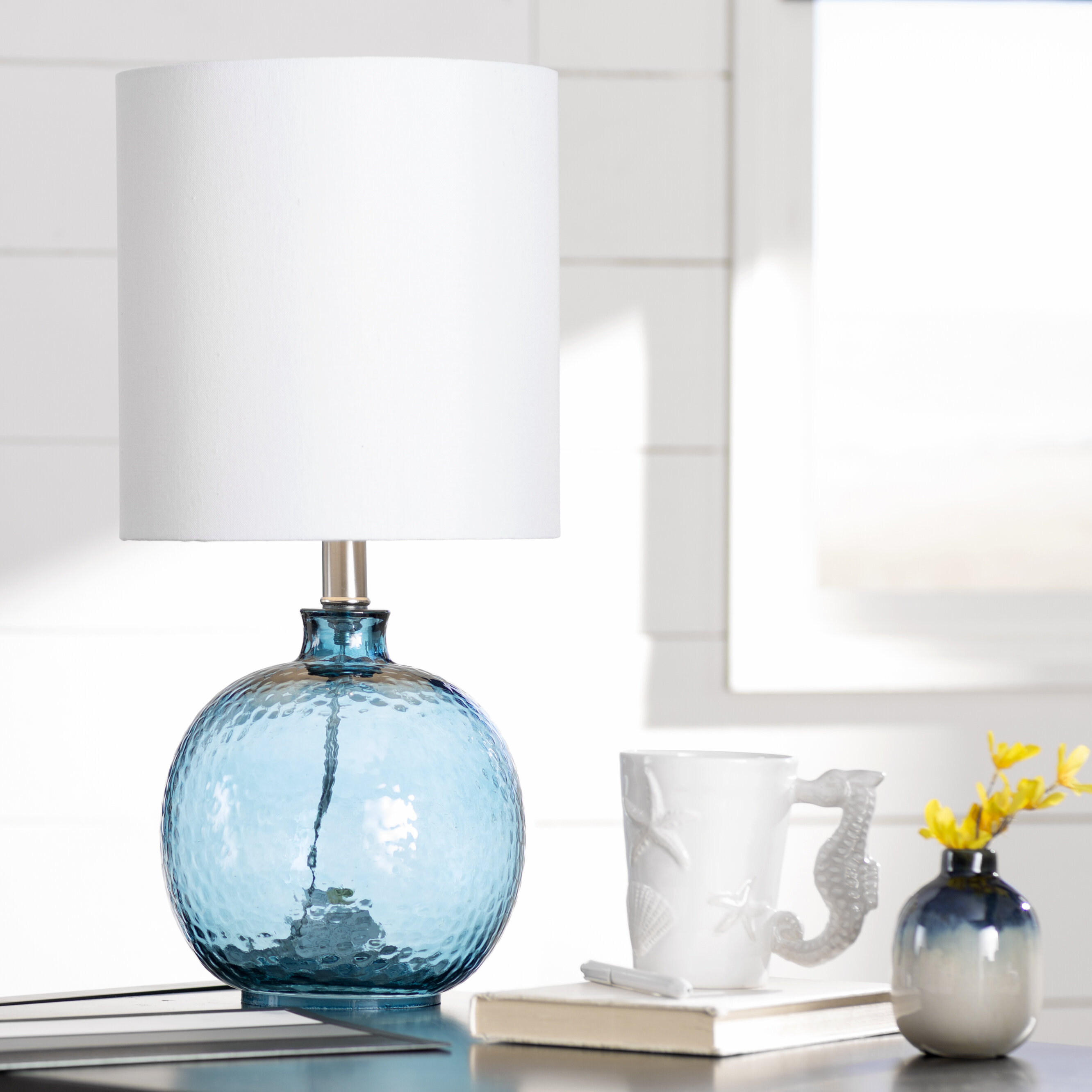 Merveilleux Amber Glass Lamp | Wayfair