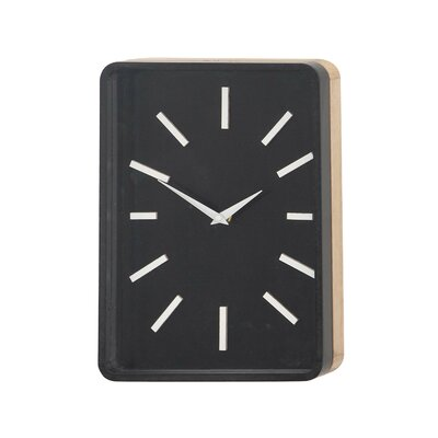 Turn on the Brights Fairview Modern Rectangular Wall Clock Color: Black/White, Size: 12 H x 9 W x 2 D
