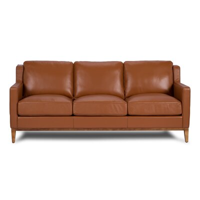 Orange Leather Sofas You Ll Love In 2019 Wayfair