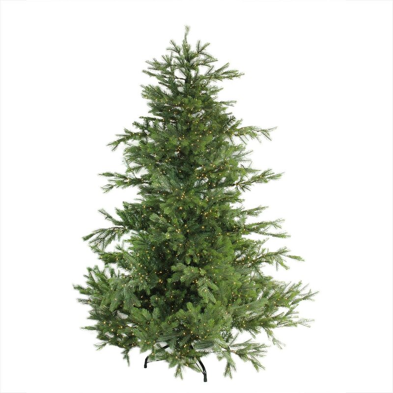 pre lit oregon noble 65 green fir artificial christmas tree with 2800 warm clear