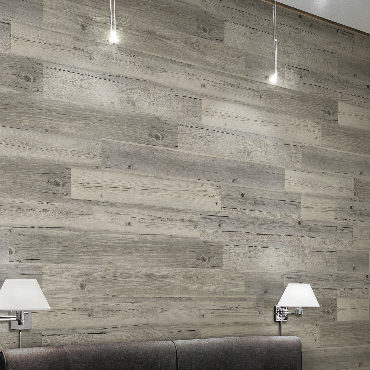 Halsteadinternational Light Solidity 5 Vinyl Wall Paneling In Harbor Wood Reviews Wayfair