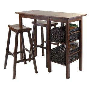 Egan 3 Piece Pub Table Set by Luxury Home