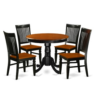 Hassan 5 Piece Solid Wood Breakfast Nook Dining Set Spacial Price