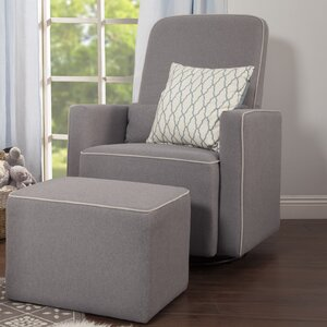 Olive Swivel Glider and Ottoman