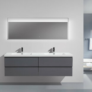 Floating U0026 Wall Mounted Bathroom Vanities Youu0027ll Love | Wayfair