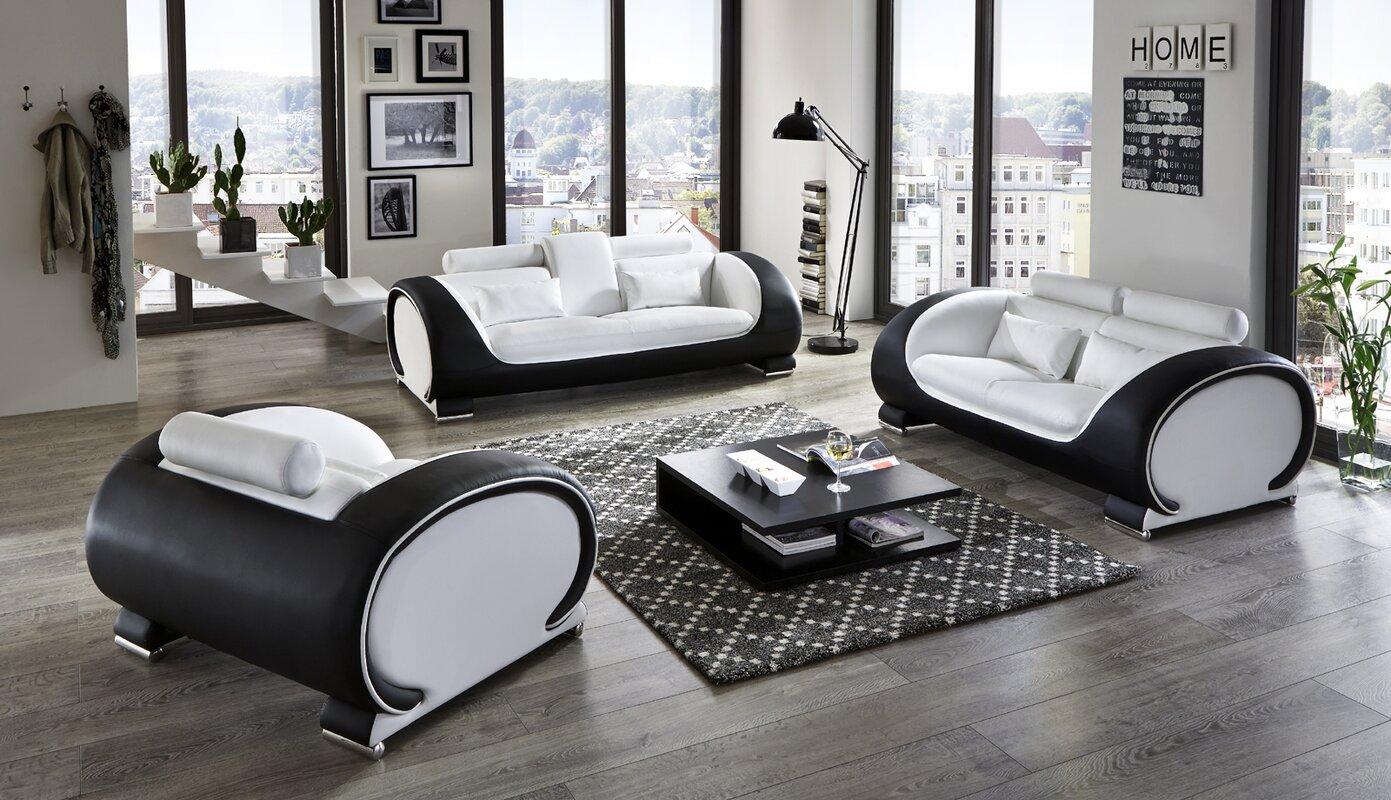 sam stil art m bel gmbh 3 tlg polstergarnitur vigo. Black Bedroom Furniture Sets. Home Design Ideas