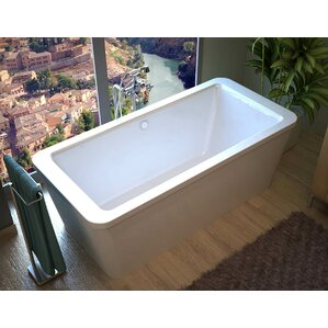 Inch Freestanding Tub Wayfair - Rectangular freestanding soaking tub