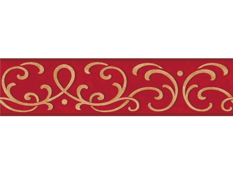 "WallPops! Carmen 16' X 4.9"" Scroll Peel And Stick Border"