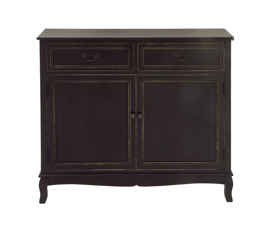 Cole Amp Grey Wood 2 Drawer 2 Door Accent Cabinet Amp Reviews