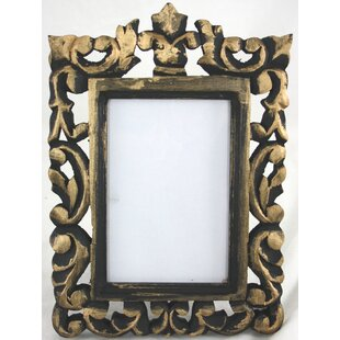 Natural Carved Wooden With Hint Of Gold Picture Frame