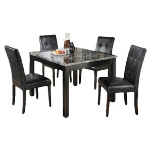 Maysville 5 Piece Dinette Set in Black & Grey by Signature Design by Ashley
