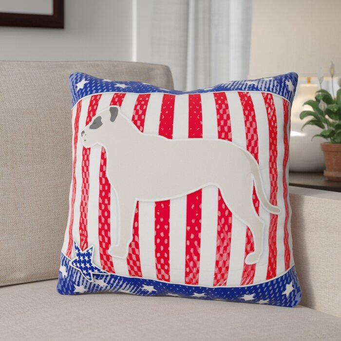 The Holiday Aisle Patriotic Modern Square Indoor Outdoor Throw