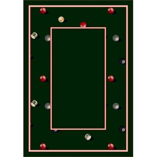 Design Center Emerald Billiards Area Rug
