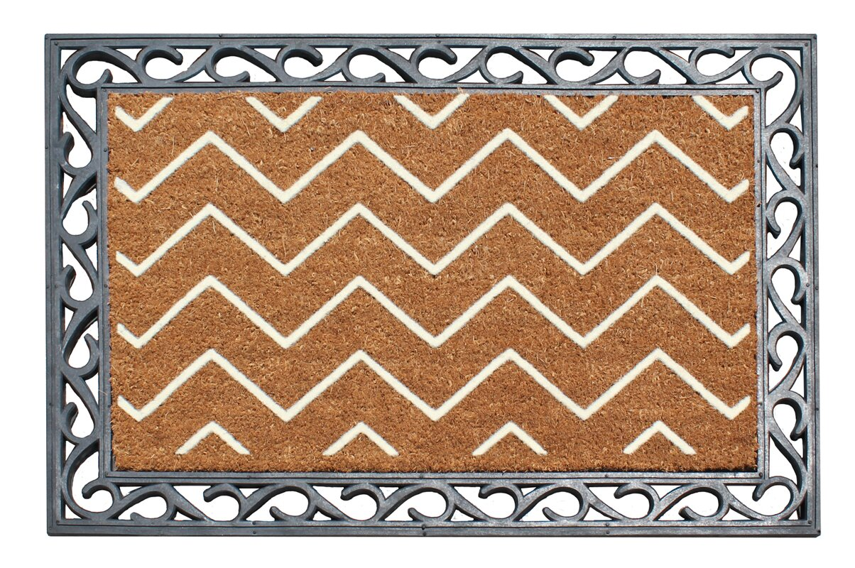 A1 Home Collections LLC First Impression Rosway Chevron Rubber ...