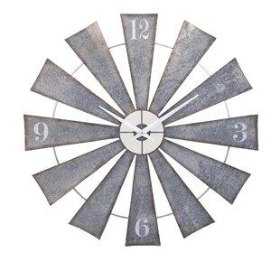 Oversized Pugh Metal Windmill 48 Wall Clock