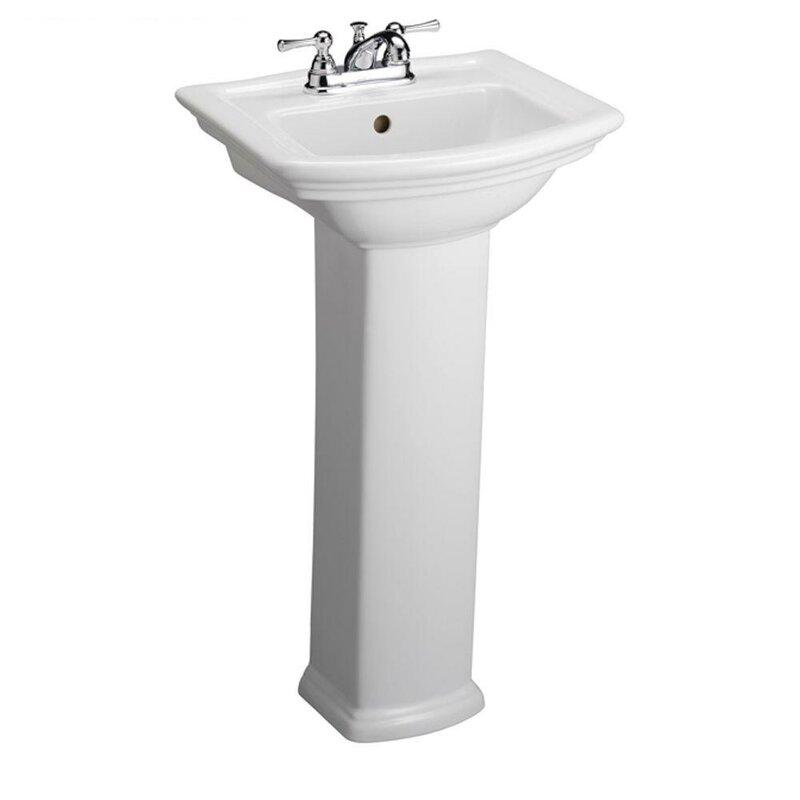 Barclay Washington 460 Vitreous China 19 Pedestal Bathroom Sink