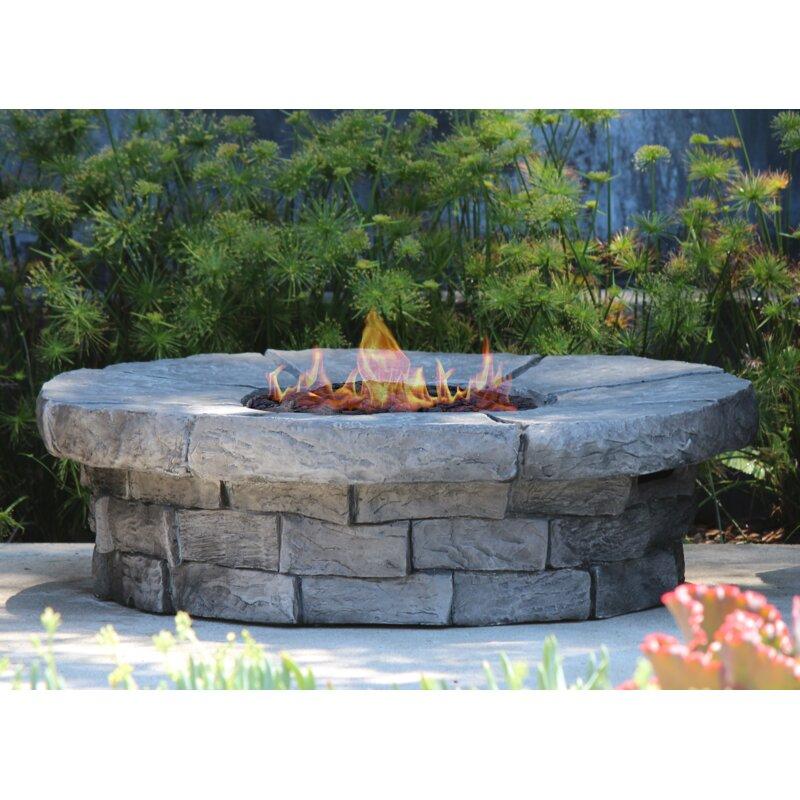 Livingsourceinternational Aurora Concrete Propane Natural Gas Fire Pit Table Reviews Wayfair Ca