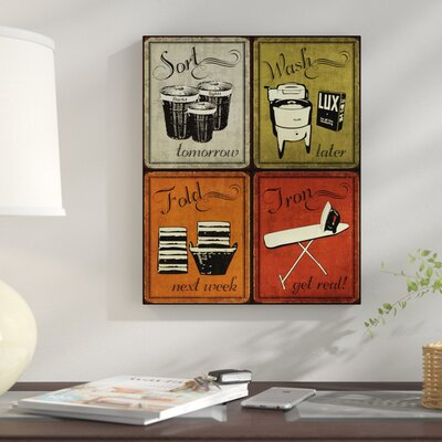 Trendy And Extremely Por Humorous Retro Laundry Room Sign Framed Graphic Art Print