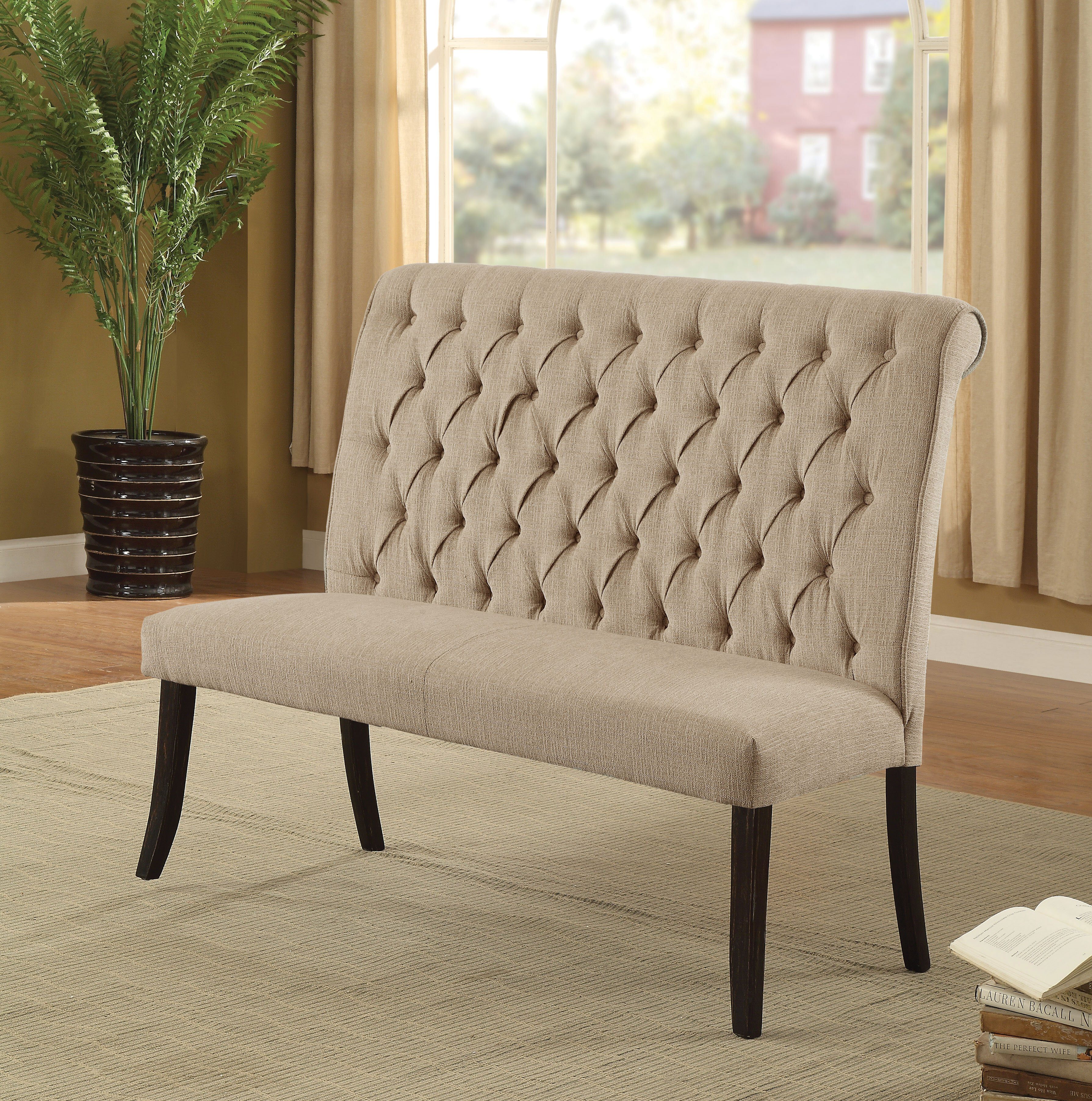 Darby Home Co Tomasello Upholstered Bench Wayfair