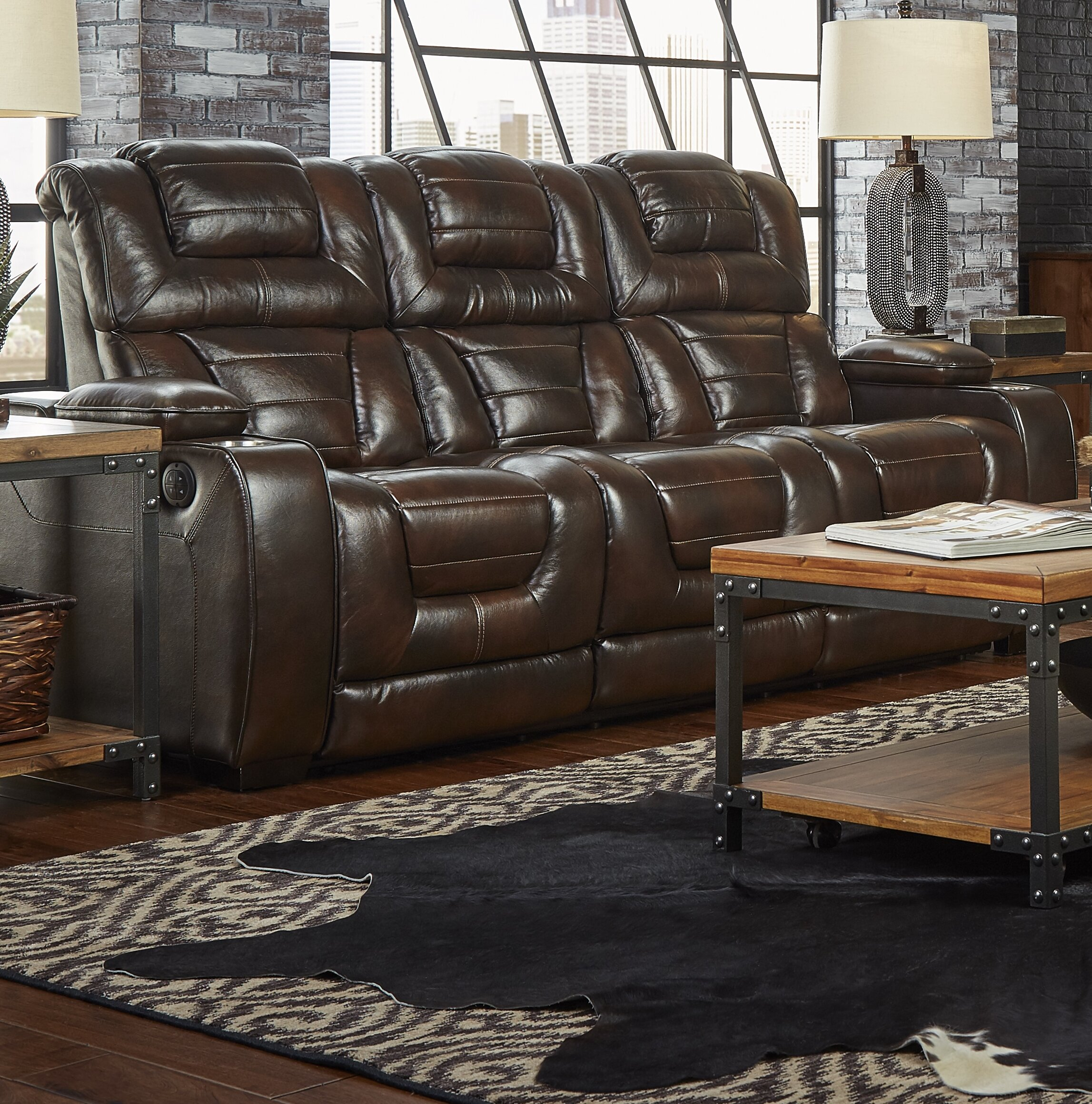 Alcott Hill Heiner Home Theater Sofa & Reviews | Wayfair