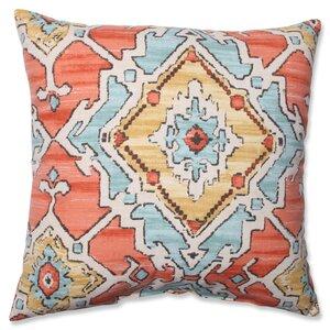 Leisha Tangerine Cotton Throw Pillow