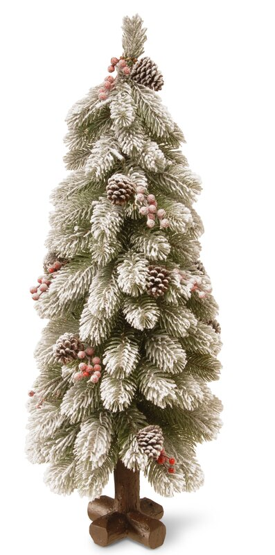 bayberry snowy 25 green cedar christmas tree with led lights - Christmas Trees With Lights