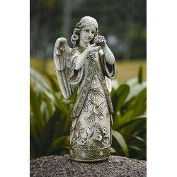 Roman Inc Garden Angel with Hummingbird Figurine Reviews Wayfair