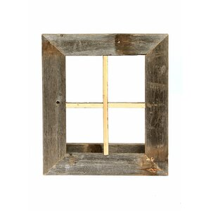 rustic window planter frame wall dcor - Wooden Window Frame