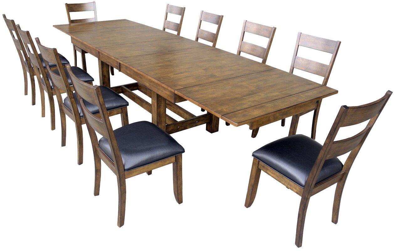 Loon Peak Alder 11 Piece Dining Set & Reviews   Wayfair
